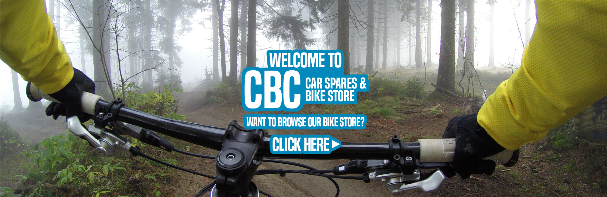 Bike Store and Welcome Banner